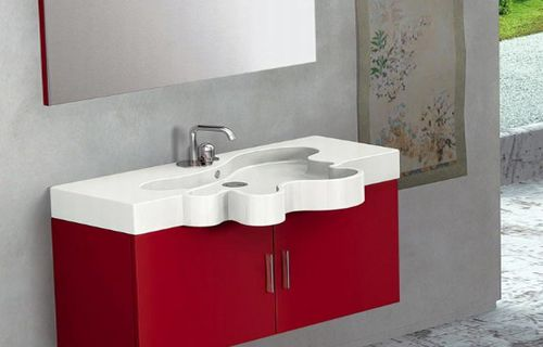 duebi-italia-red-flower-vanity bed-bath