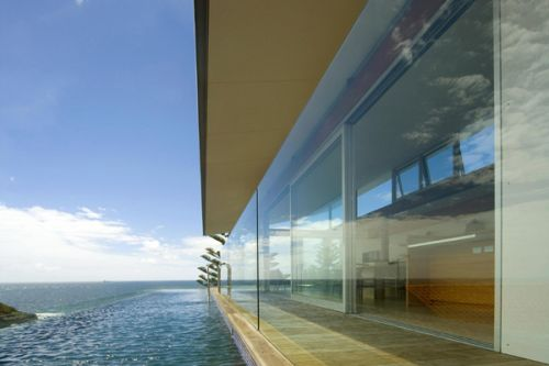 beach house view architecture