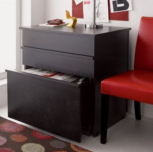 convertible compact desk closed furniture 2