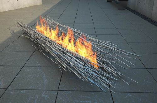 fire sculpture 002 art home decor