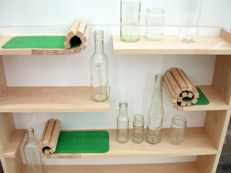 This innovative Rolling shelf is designed by Catherine Greene, catgreene.com