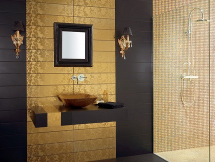 gold tile dune 4 interiors