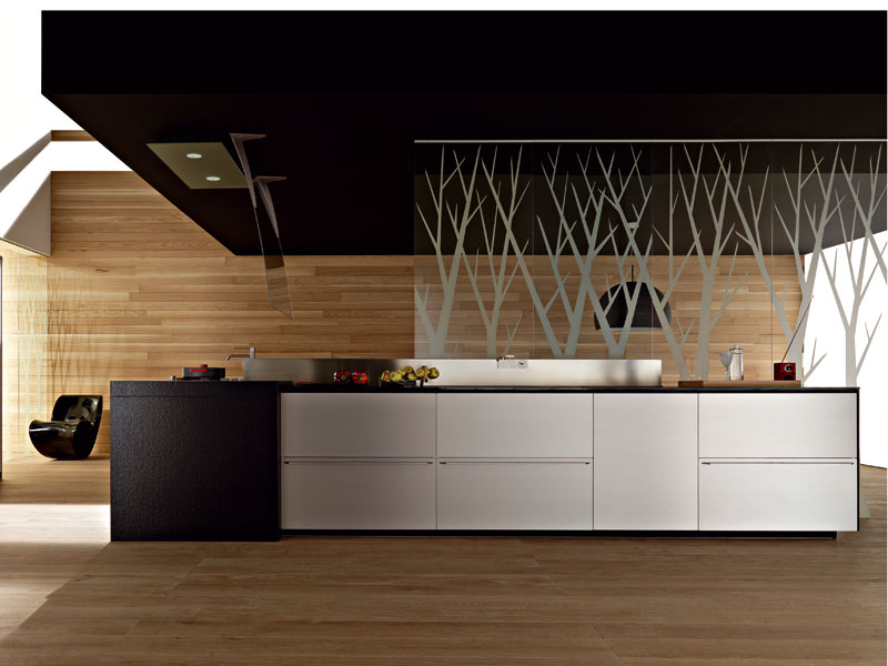 valcucine artematica multiline titanium kitchen 2 kitchen
