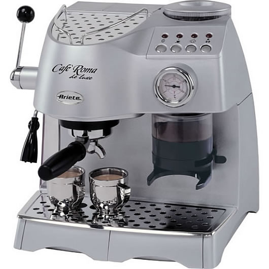 ariete cafe roma digital espresso silver appliances