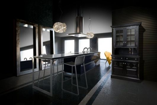 Modern-japanese-metal-kitchen-island-design