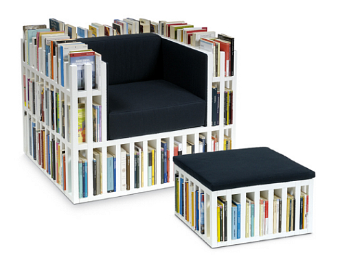 Thumbnail image of Bibliochaise & Bibliopouf by Nobody & Co – for bibliophiles only