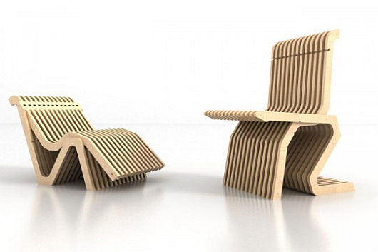 Thumbnail image of MisoSoup Design's convertible C2C Chair