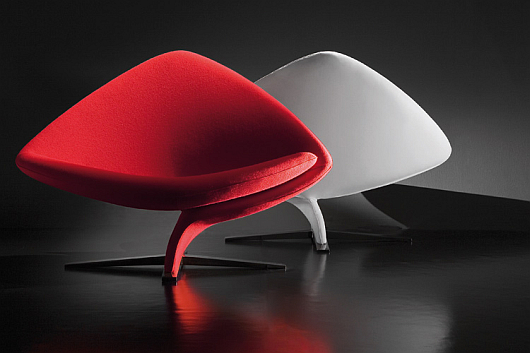 Thumbnail image of Tonon&#8217;s OneforTwo armchair by Stefan Heiliger: classy and cosy