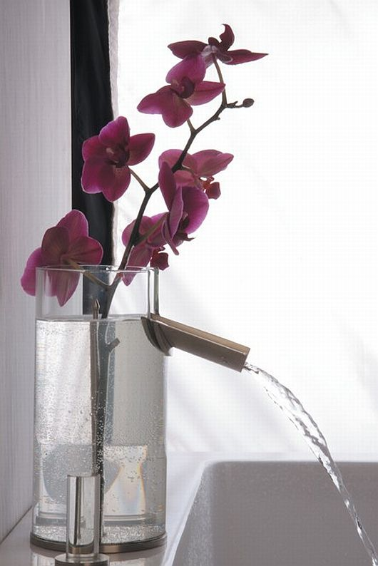 Thumbnail image of Flower Glass Bathroom Faucet: Pleasing Aesthetics Added to a Perfect Design!
