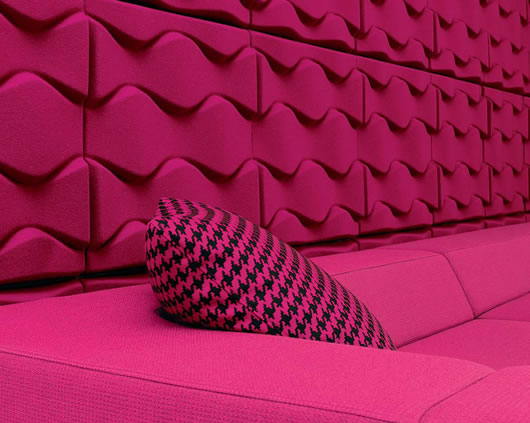 Thumbnail image of Soundwave Flo Tiles: Karim Rashid's Sound-absorbing Wall Panels