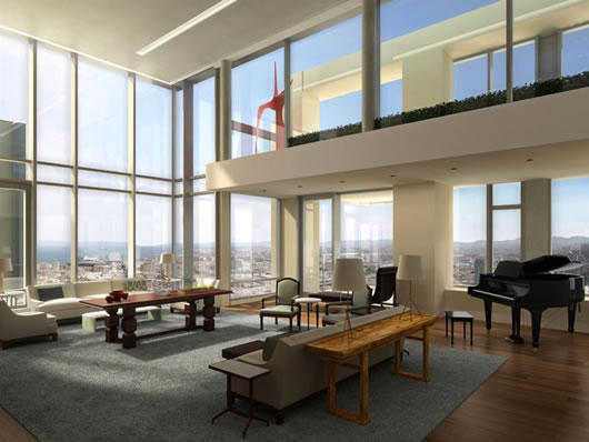 St. Regis Penthouse: Overlooking San Francisco's Most Spectacular Sights - Ice Blue│冰蓝 - 广度°Extent Design
