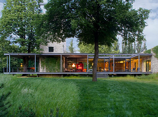 modern glass home krakow architecture