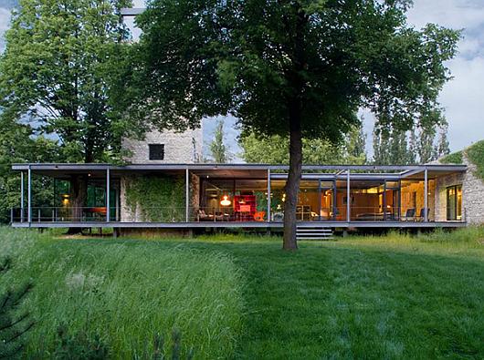 Nature loves it: modern glass house near Krakow, Poland Home ... - ^