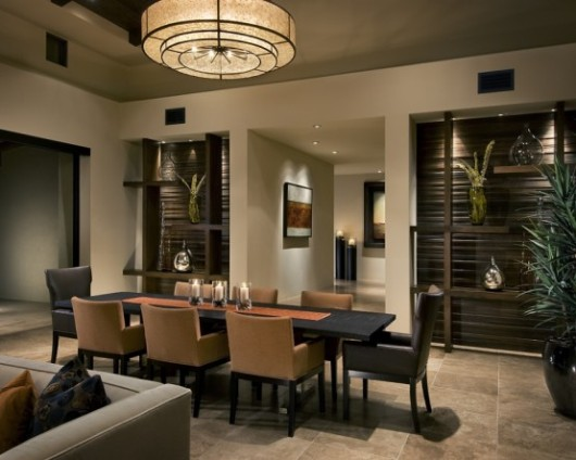 modern spanish house dining room interiors