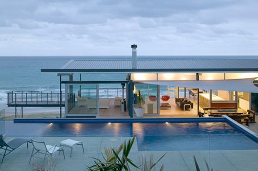 contemporary architecture, t-house 1, modern house on the beach, beach house, interior design