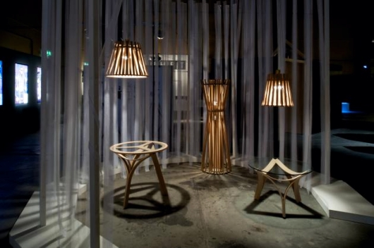 japanese designer sachiko segawa presents her final degree project take kagu its name literally means bamboo furniture and is inspired by segawas bamboo modern furniture