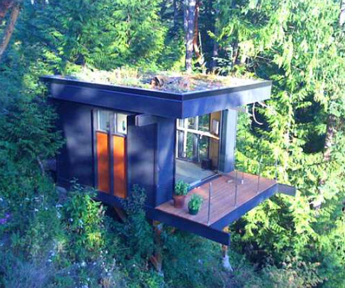 Thumbnail image of Commuter Cuts Carbon, Calories With Gorgeous Treehouse Office