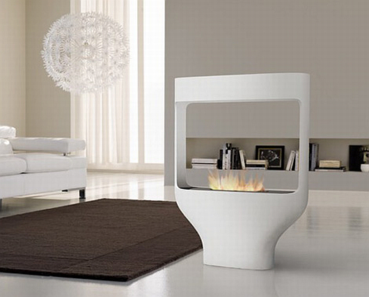 Thumbnail image of Tulip fireplace by Biofireplace: stylish and spacesaving