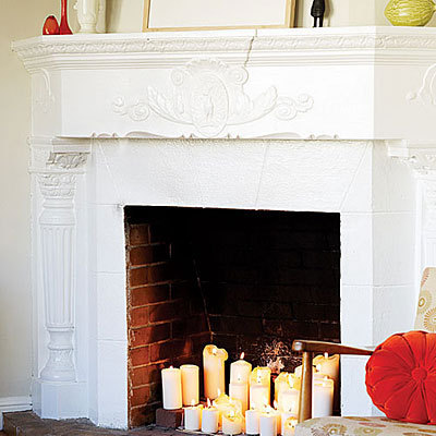 sunset fireplace candles l rect540 how to tips advice & Design Dilemma: Fire Without A Working Fireplace | Home Design Find