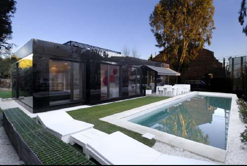 Thumbnail image of A-Cero Composes a Luxurious Prefab in Chic Black and White