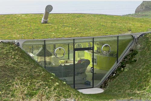 Thumbnail image of An Airy Underground Home High Above the Welsh Coast