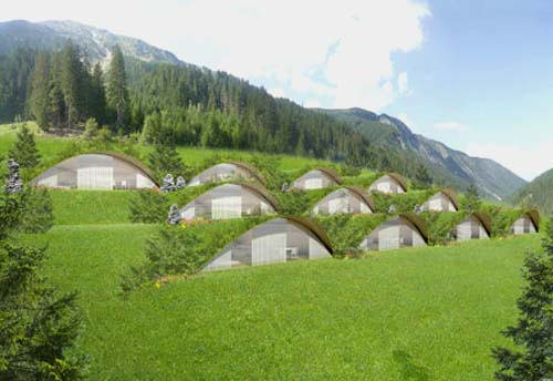 Thumbnail image of Earth-Sheltered Eco Hotel in Alps from Matteo Thun