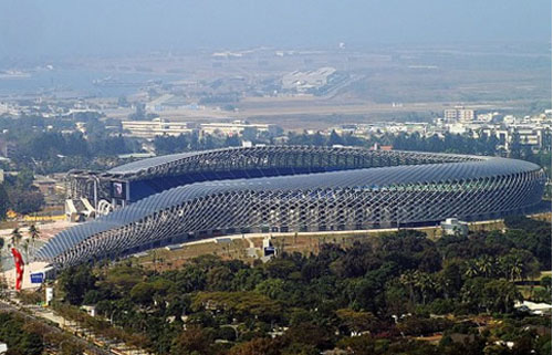 Thumbnail image of Solar Roof For Taiwan Stadium Suggests a Snake or Dragon