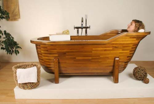 Wooden Tub green