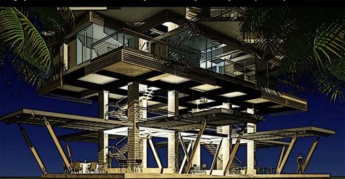 Thumbnail image of A Modular Tropical Apartment Complex for 2050
