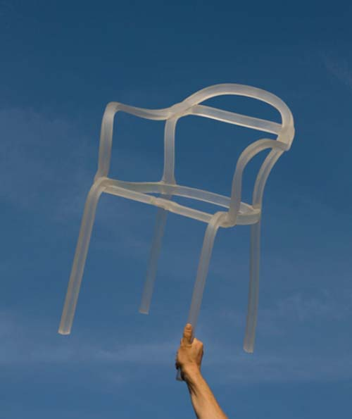 "Thumbnail image of The Artisanal, Handcrafted Plastic ""Sealed Chair"" from Dumas"