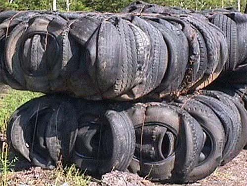 Tire bale9 green