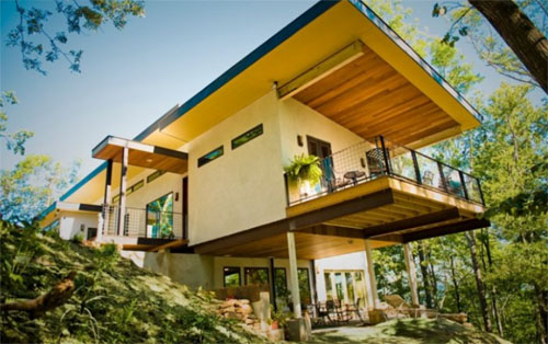 The House Was Relatively More Energy Efficient And Economical To Build Due  To Its Unique Plant Matter Construction Using Brenneru0027s Invention, That He  Calls ...