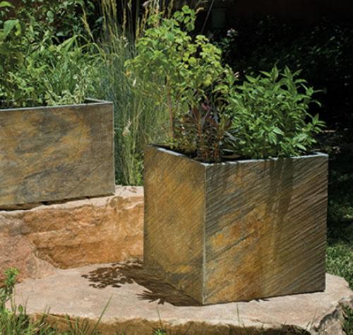slate planter diy