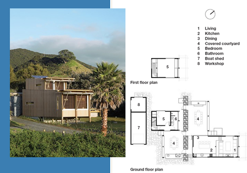 Great Barrier Island bach2 architecture