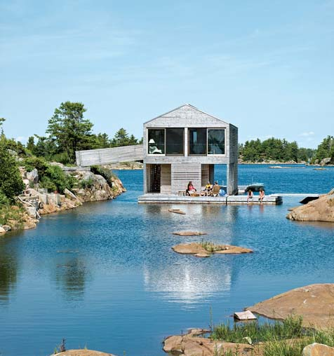 Mos Huron floating boathouse2 green