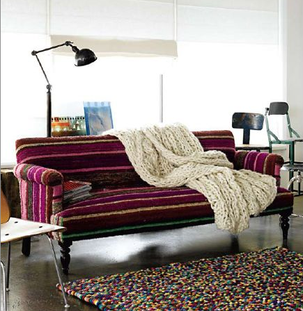 Roomology's Guide For Mixing Prints And Patterns Roomology Stunning Patterned Settee