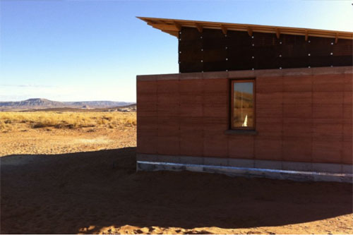 Navajo rammed earth4 green