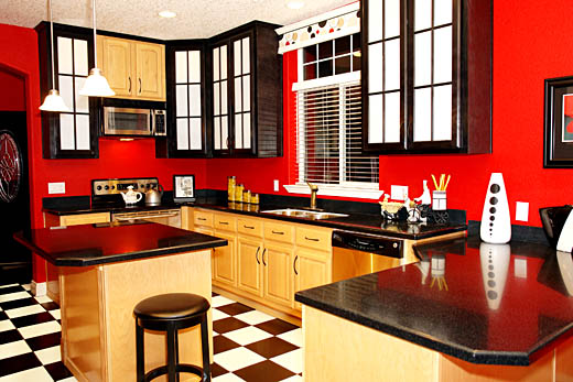 Red Kitchen Design5 how to tips advice