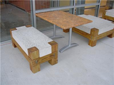 concrete bench with wood legs ancient art concrete countertops 6835 how to tips advice