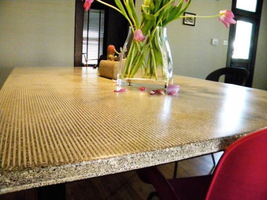 Design Dilemma A Concrete Look At Furniture Home Design Find - Concrete dining room table