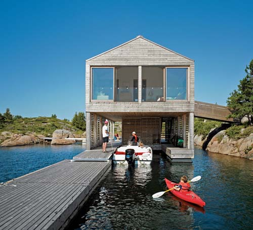 Mos Huron floating boathouse1 green