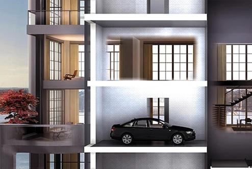 ostentatious garage architecture