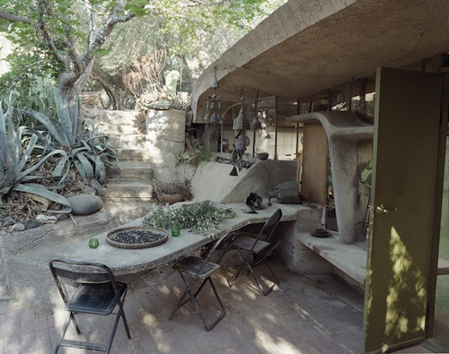 Paolo Soleri outside dining art home decor