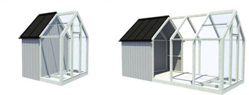 glass prefab modular greenhouse 7 bed bath