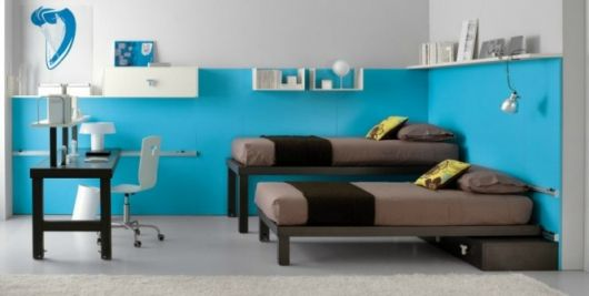 shared kids room in brown and blue3665x335 how to tips advice