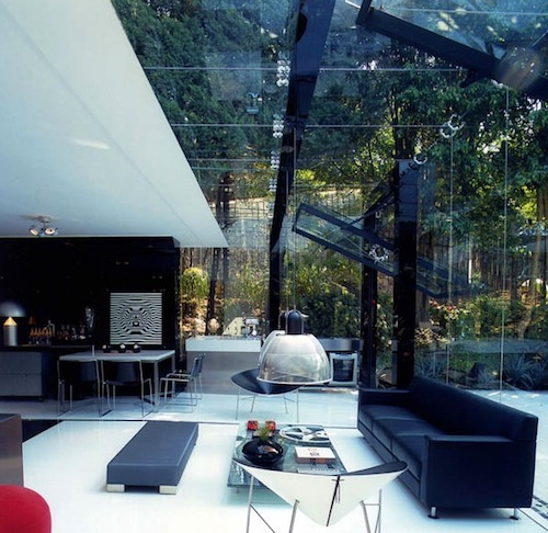 Glass garage architecture
