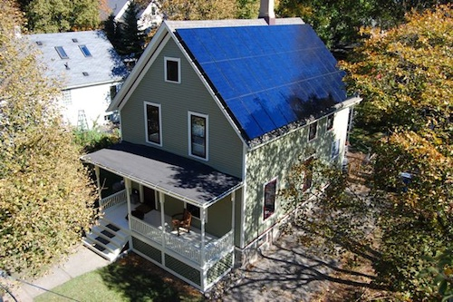 Michigan net zero solar house architecture