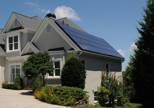net zero home with solar panels architecture