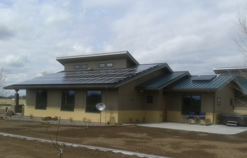 solar home Idaho architecture