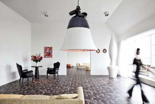Creating a Modern Interior Space with a Touch of Dramatic Floor Patterns how to tips advice